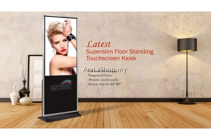 Arvia Touchscreen Floor Standing Kiosk Superslim Series  ( Infrared 10 Touch Point) 49 inch Android 5.1 4gbRAM 128SSD FLR103