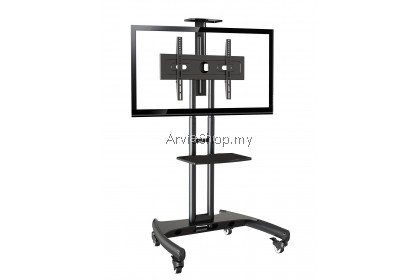 North Bayou Portable LED/LCD TV Stand Single Black Upto 32 inches - 65 inches - TS101-BLK