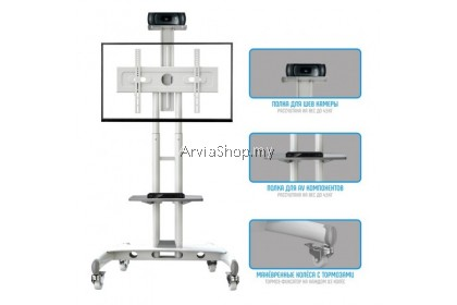 North Bayou Portable LED/LCD TV Stand Single Upto 32 inches - 65 inches - TS101-WHT