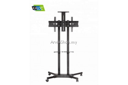 Kaloc Portable TV Stand Height Adjustable Sliding Floor TV Mounts 32 to 58 Inch  - TS121-BLK