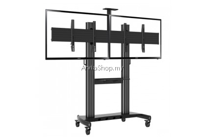 North Bayou Portable Aluminum TV Stand ( LED/LCD/Plasma ) Mount upto 40 inches-60 inches  - TS113-BLK