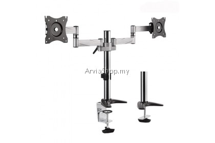 Brateck  Double Full  Motion Desk Monitor Bracket 13 inches-27 inches - DMC11C24-SVR