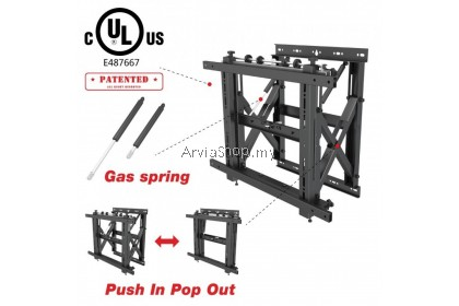 Arvia Videowall Pop Out Mounting LCD TV Bracket with Micro-Adjustment - VM-70