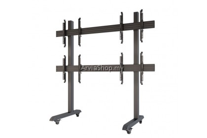 """Portable Standing Multiple Display up to 32""""-65"""" - TSB2B-BLK"""