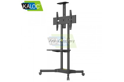 Kaloc Portable TV Stand Height Adjustable Sliding Floor TV Mounts 32 To 58 Inch - TS131-BLK